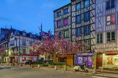 Ulica w Rouen, Francja fotografia stock