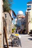 Ulica w starej części Limassol, Cypr Zdjęcia Stock
