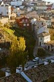 Ulica w Starej części miasto w Cuenca Zdjęcia Stock