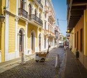 Ulica w stary San Juan, Puerto Rico Obraz Stock