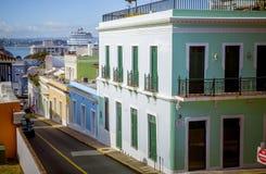 Ulica w stary San Juan, Puerto Rico Fotografia Stock