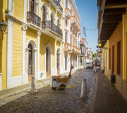 Ulica w stary San Juan, Puerto Rico Zdjęcie Stock