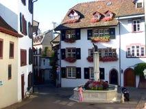 Ulica w starym części miasteczku Basel obrazy stock