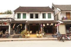 Ulica w starym grodzkim Luang Prabang Fotografia Stock