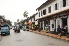 Ulica w starym grodzkim Luang Prabang Obrazy Stock