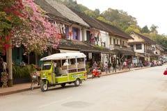 Ulica w starym grodzkim Luang Prabang Zdjęcia Stock
