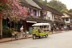 Ulica w starym grodzkim Luang Prabang Obraz Royalty Free