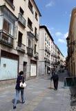 Ulica w starym miasteczku Avila, Hiszpania Zdjęcia Stock