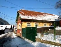 Ulica w starym miasteczku, Brasov, Transilvania, Rumunia Obraz Stock