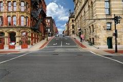 Ulica w StJohn Kanada zdjęcia royalty free