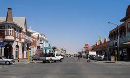 Ulica w Swakopmund citz, Namibia Fotografia Stock