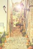 Ulica w Valldemossa wiosce, Mallorca Zdjęcie Royalty Free