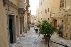 Ulica w Valletta w Malta Obrazy Stock
