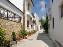 Ulica w wiosce, Cypr Zdjęcia Royalty Free