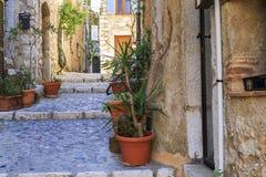Ulica w wiosce Provence Zdjęcie Stock