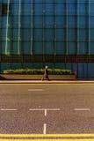 Ulica w wyspie psy w Londyn Obrazy Stock