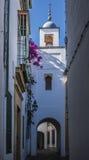 Ulica w Żydowskiej ćwiartce w cordobie obraz royalty free