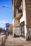 Ulica z kawiarnią Obraz Stock