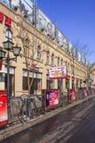Ulica z plenerową reklamą, Harbin, Chiny fotografia royalty free