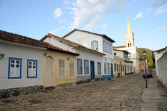 ulice brukowców goias velho Obraz Royalty Free
