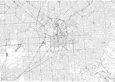 Ulicy Adelaide, miasto mapa, Australia Uliczna mapa ilustracja wektor