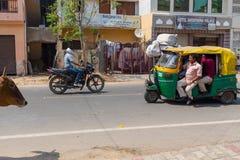 Ulicy Agra, India Zdjęcia Royalty Free