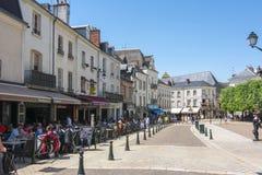 Ulicy Amboise blisko Amboise kasztelu, Francja fotografia stock