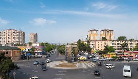 Ulicy Baku miasto Obrazy Royalty Free