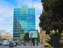 Ulicy Baku miasto, samochody na ulicie Obrazy Royalty Free