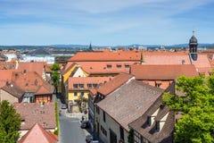 Ulicy Bamberg miasteczko w Bavaria, Niemcy Zdjęcia Stock
