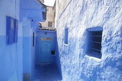 Ulicy Chefchaouen Maroko fotografia royalty free