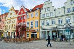 Ulicy dziejowy centrum Greifswald Obraz Stock