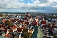 Ulicy dziejowy centrum Greifswald Zdjęcia Stock