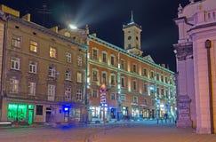 Ulicy evening Lvov fotografia stock