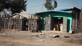 Ulicy ginchi miasteczko w Ethiopia zbiory wideo