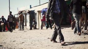 Ulicy ginchi miasteczko w Ethiopia zdjęcie wideo