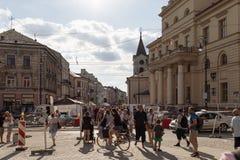 Ulicy i architektura stary miasto Lublin Obrazy Stock