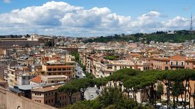 Ulicy i domy Rzym od widoku z lotu ptaka turystów miejsca i panoramy Rzym S?oneczny dzie? w Rzym zbiory