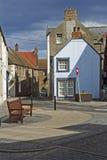 Ulicy i domy w Eyemouth w Berwickshire w Szkocja, UK 07 08 2016 Obrazy Royalty Free
