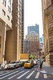 Ulicy i drapacze chmur w centrum nowy Jork miasto blisko Wall Street Fotografia Royalty Free