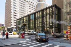 Ulicy i drapacze chmur w centrum nowy Jork miasto blisko Wall Street Zdjęcie Stock