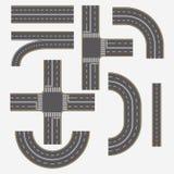 Ulicy i drogi z zwyczajnymi skrzyżowaniami, rozdroża ilustracji