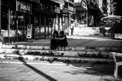 Ulicy I ludzie Turecki wakacje miasteczko Fotografia Stock