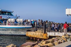 Ulicy I ludzie Turecki wakacje miasteczko Obrazy Stock
