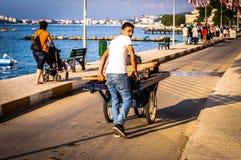 Ulicy I ludzie Turecki wakacje miasteczko Obraz Stock
