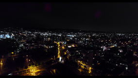 Ulicy L A przy nocą od above zbiory wideo