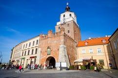 Ulicy Lublin, Polska obraz stock