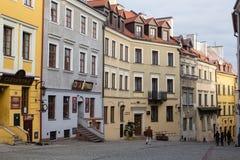Ulicy Lublin stary miasteczko obraz royalty free
