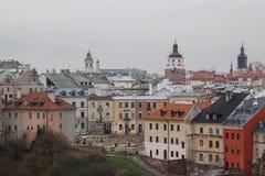Ulicy Lublin stary miasteczko fotografia royalty free