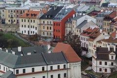 Ulicy Lublin stary miasteczko zdjęcia stock